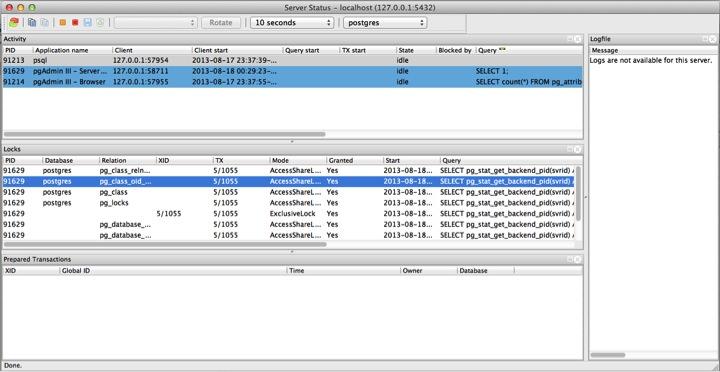Server Status Tool – pgAdmin's Best Kept Secret | Datapolitan